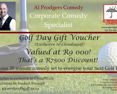 Discount Voucher - Al Prodgers Comedy