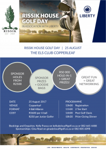 Flyer - Rissik House_GolfDay2017